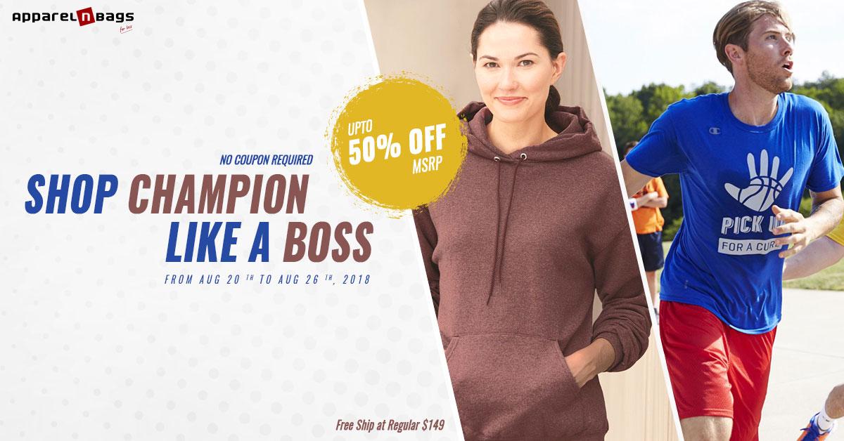 Shop Champion Like A Boss
